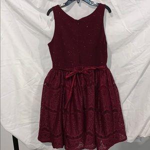 emily west Dresses - Girls Maroon Holiday Dress